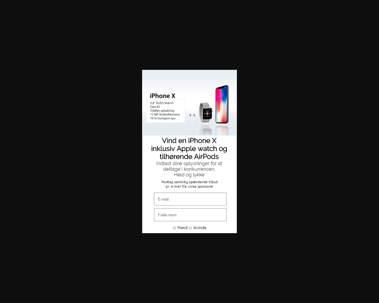 Vinn den nya iPhone X och Apple Watch!