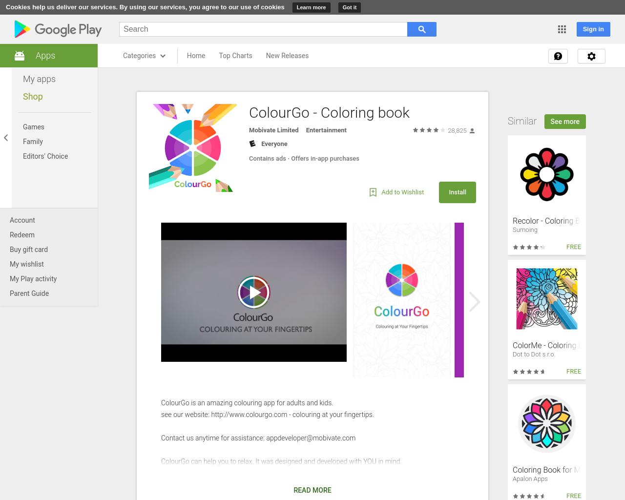 ColourGo - Coloring book